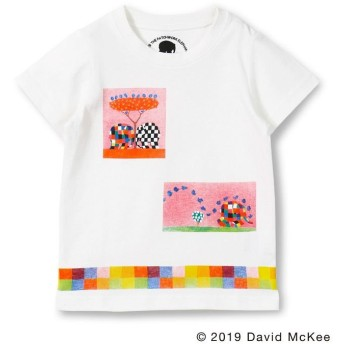 【40%OFF】 ブランシェス ボックスアートプリントTシャツ(90~130cm) レディース オフホワイト 110cm 【branshes】 【セール開催中】
