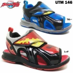 ウルトラマンジード UTM146 キッズ スポーツサンダル ベルクロ 面ファスナー マジックテープ キャラクター 男の子 男児 子供靴
