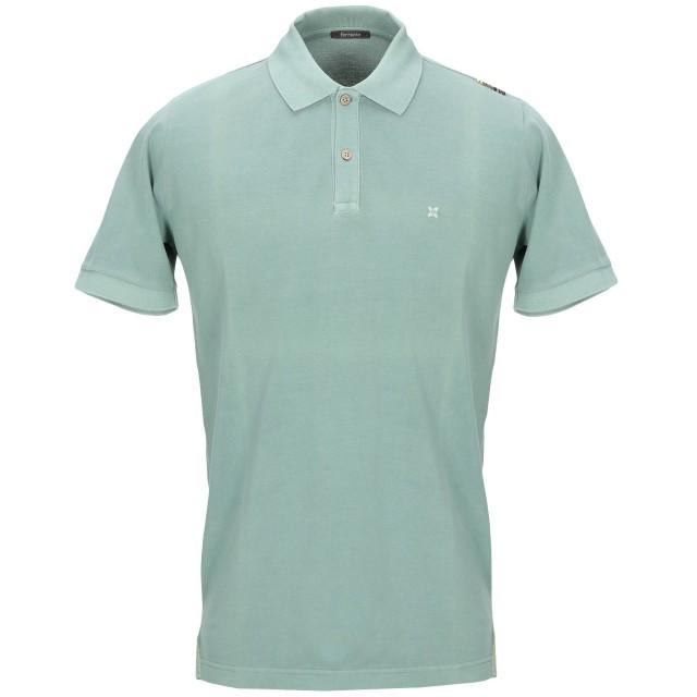 《期間限定セール開催中!》FERRANTE メンズ ポロシャツ ミリタリーグリーン 48 コットン 100%