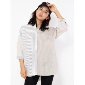 [マルイ]【セール】ブロッキングシャツ/セシルマクビー(CECIL McBEE)
