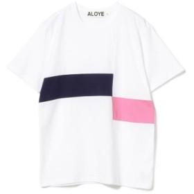 (BEAMS WOMEN/ビームス ウィメン)ALOYE × Ray BEAMS/別注 カラー ブロック Tシャツ/レディース WHITE