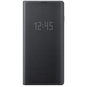 サムスン Galaxy S10(SC-03L/ SCV41)用 純正 LED View Cover(ブラック) SAMSUNG EF-NG973PBEGJP 返品種別A