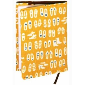 【ブックカバー】『 おしゃれな足下 』レトロ小紋てぬぐいのブックカバー(文庫本用)【ゆうパケット送料無料!】