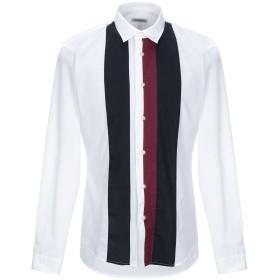 《期間限定セール開催中!》BIKKEMBERGS メンズ シャツ ホワイト 40 コットン 100%