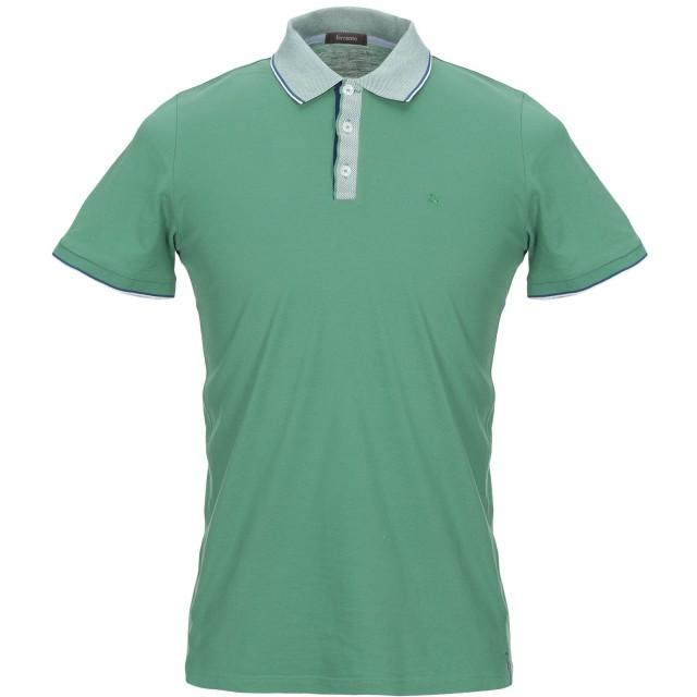 《期間限定セール開催中!》FERRANTE メンズ ポロシャツ グリーン 46 コットン 100%