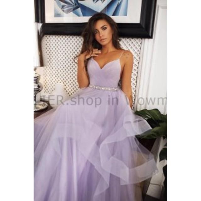 3cfd73baa69fb ウェディングドレス セクシーなラベンダーチュールのウェディングドレスオープンバックブライダルガウンクリスタルサッシ