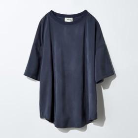 MEDE19F メデ ジュウキュウ とろみ素材のTシャツブラウス