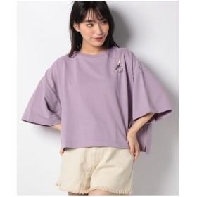 WEGO WEGO/ショルダーリングジップTシャツ(パープル)【返品不可商品】