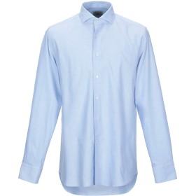 《期間限定 セール開催中》MATTEUCCI 1939 メンズ シャツ スカイブルー 42 コットン 98% / ポリウレタン 2%