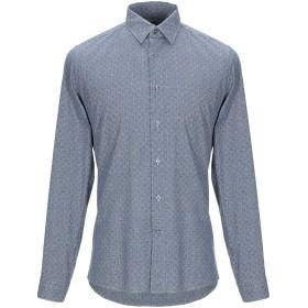 《9/20まで! 限定セール開催中》HARRY BROOK メンズ シャツ ブルー 39 コットン 100%