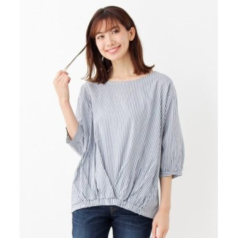 SHOO・LA・RUE / シューラルー リボンカフスプリントシャツ