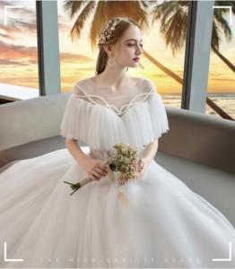 ウェディングドレス 森ガール系 結婚式 花嫁 新品 フワフワ