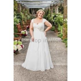 ウェディングドレス エレガントシフォンビーチウェディングドレスレースアップバック花嫁衣装プラスサイズのカスタム  Elegant
