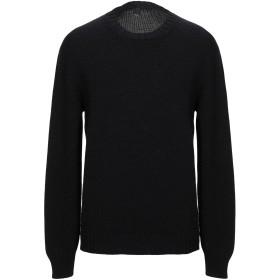 《セール開催中》MAXI HO メンズ プルオーバー ブラック 52 エクストラファイン ラムウール 70% / 毛(アルパカ) 30%