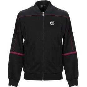 《期間限定セール開催中!》SERGIO TACCHINI メンズ スウェットシャツ ブラック L ポリエステル 60% / コットン 40%