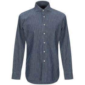 《期間限定 セール開催中》ALESSANDRO GHERARDI メンズ シャツ ダークブルー 39 コットン 100%