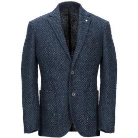 《期間限定セール開催中!》LUIGI BIANCHI ROUGH メンズ テーラードジャケット ダークブルー 50 バージンウール 97% / ナイロン 3%
