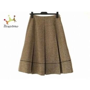 シビラ Sybilla ロングスカート サイズL レディース ブラウン×ライトブラウン チェック柄 スペシャル特価 20190819