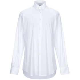 《期間限定セール開催中!》DEL SIENA メンズ シャツ ホワイト 43 コットン 75% / ナイロン 21% / ポリウレタン 4%