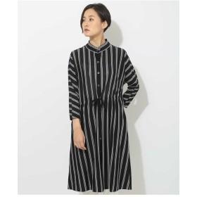 GIANNI LO GIUDICE 【洗える・日本製】ストライプロングドレス その他 ワンピース,ネイビー