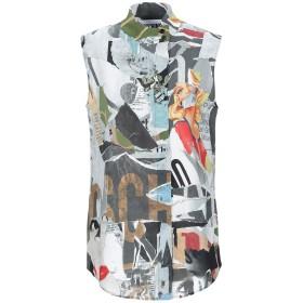 《期間限定 セール開催中》MOSCHINO レディース シャツ グレー 40 レーヨン 95% / 指定外繊維 5%