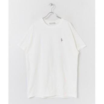 【51%OFF】 センスオブプレイス スケートボードシシュウTシャツ(5分袖) メンズ WHITE M 【SENSE OF PLACE】 【セール開催中】