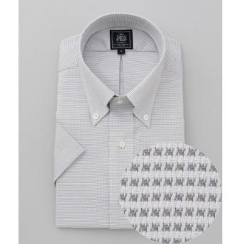J.PRESS / ジェイプレス 【PREMIUM PLEATS / 形態安定】ピンヘッドボタンダウン 半袖シャツ