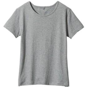 【レディース】 インド綿半袖Tシャツレディース - セシール ■カラー:グレー ■サイズ:LL,3L,L,M