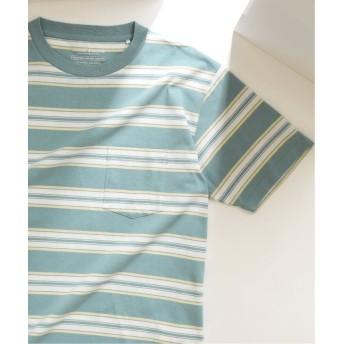 【50%OFF】 ジャーナルスタンダード US COTTON ヘビーウェイト ボーダー Tシャツ メンズ ブルー S 【JOURNAL STANDARD】 【セール開催中】