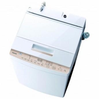 東芝 TOSHIBA 全自動洗濯機 「ZABOON/ザブーン」 [洗濯8.0kg/インバーターモーター搭載] AW-BK8D8-W グランホワイト
