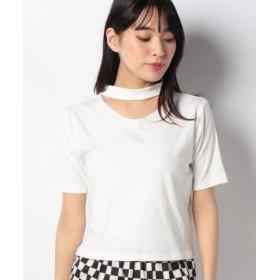 (WEGO/ウィゴー)WEGO/チョーカーリブTシャツ/レディース ホワイト