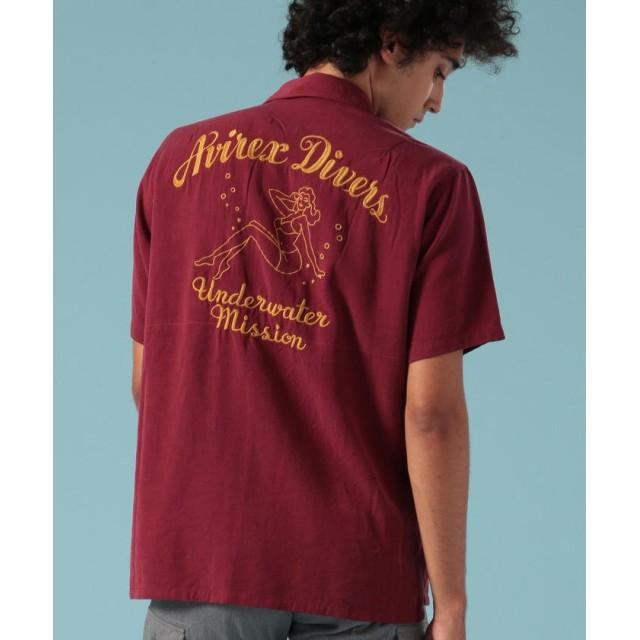 アヴィレックス ボーリングシャツ アヴィレックス ダイバーズ/BOWLING SHIRT AVIREX DIVERS メンズ B/GNDY XL 【AVIREX】