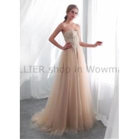 ウェディングドレス ヴィンテージの恋人シャンパンチュールビーチのウェディングドレスのレースのアップリケの花嫁衣装  Vintage