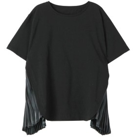 ELENDEEK SIDE GLOSS PLEATS CS Tシャツ・カットソー,ブラック