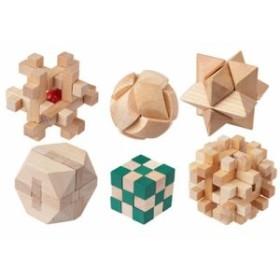 キヨラカ MO-P01 木製パズル6個セット やわらかあたま君 (MOP01)