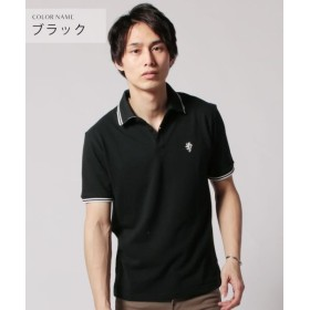 ザ カジュアル (スプ) SPU TC鹿の子ワンポイント刺繍半袖ポロシャツ メンズ ブラック M 【THE CASUAL】