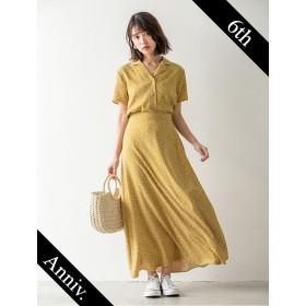 【fifth/フィフス】【6th anniversary】レトロフラワーロングフレアスカート