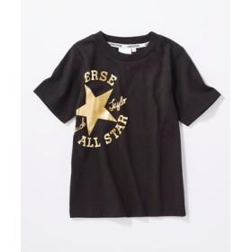 CONVERSE ロゴプリントTシャツ キッズ *ブラック