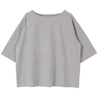 ティティベイト titivate ビッグシルエットコットンTシャツ (杢グレー)