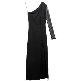 《セール開催中》MANGANO レディース ロングワンピース&ドレス ブラック S ポリエステル 95% / ポリウレタン 5% / ナイロン