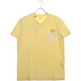 ゲス GUESS V-NECK POCKET TEE (YELLOW)
