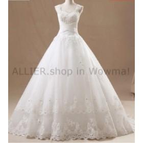 ウェディングドレス ロマンチックなオフショルダーレースのアップリケビーズのスパンコールのウェディングドレスブライダルガウン  Ro