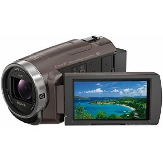 ソニー SONY ビデオカメラ Handycam 光学30倍 内蔵メモリー64GB ブロンズブラウン HDR-PJ680 TI 中古品 アウトレット