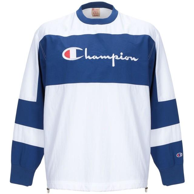 《セール開催中》CHAMPION メンズ スウェットシャツ ホワイト XS ナイロン 100%