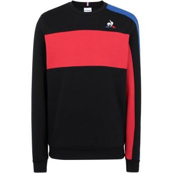 《セール開催中》LE COQ SPORTIF メンズ スウェットシャツ ブラック L コットン 85% / ポリエステル 15% TRI Crew Sweat N°4