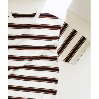 【50%OFF】 ジャーナルスタンダード US COTTON ヘビーウェイト ボーダー Tシャツ メンズ ホワイト M 【JOURNAL STANDARD】 【セール開催中】