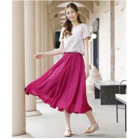 Rose Tiara(L SIZE) イレギュラーヘムフィッシュテールスカート(ピンク)【返品不可商品】
