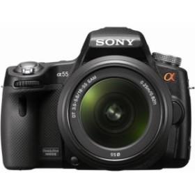 ソニー SONY ミラーレス一眼 α55 ズームレンズキット DT 18-55mm F3.5-5.6 SAM付属 SLT-A55VL 中古品 アウトレット