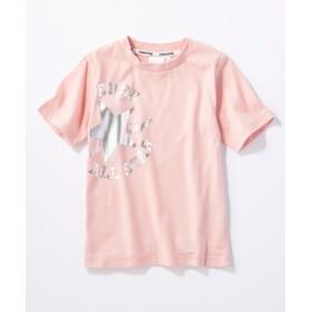 CONVERSE ロゴプリントTシャツ キッズ ピンク