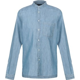 《期間限定 セール開催中》ALTEA メンズ デニムシャツ ブルー 38 コットン 63% / 麻 37%